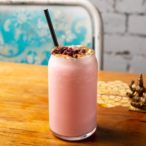 Rose and Cinnamon Lassi