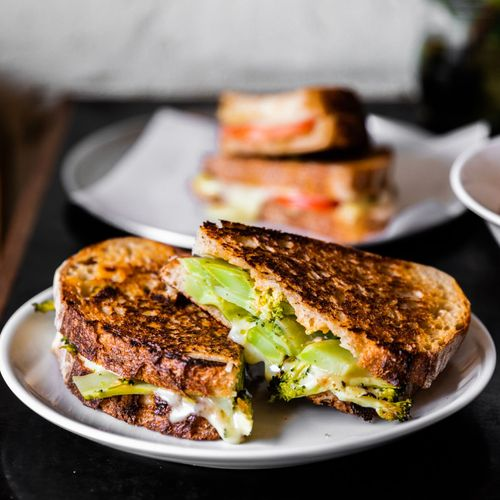 Broccoli Grilled Cheese Sandwich