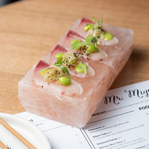 Himalayan salt slab kingfish