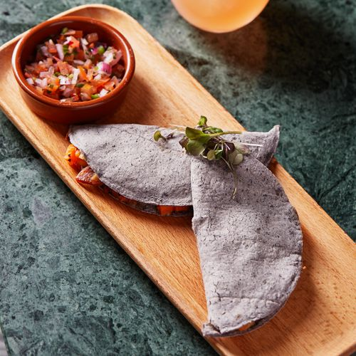 Sweet Potato, Chorizo & Sweet Corn Quesadillas