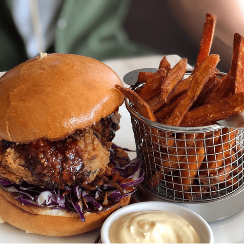 Korean Fried Chicken Burger
