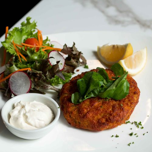 Double Salmon Fishcake