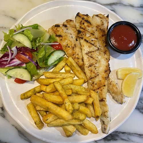 Grilled Fish & Chips