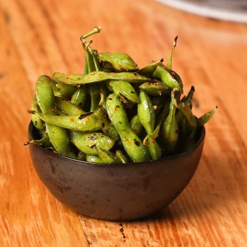 Char grilled Edamame