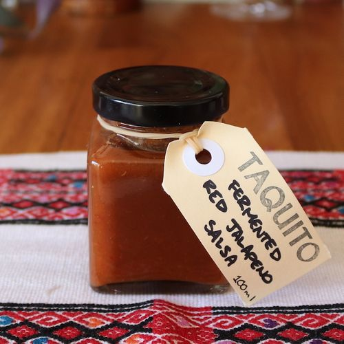 Fermented Red Jalapeno Salsa