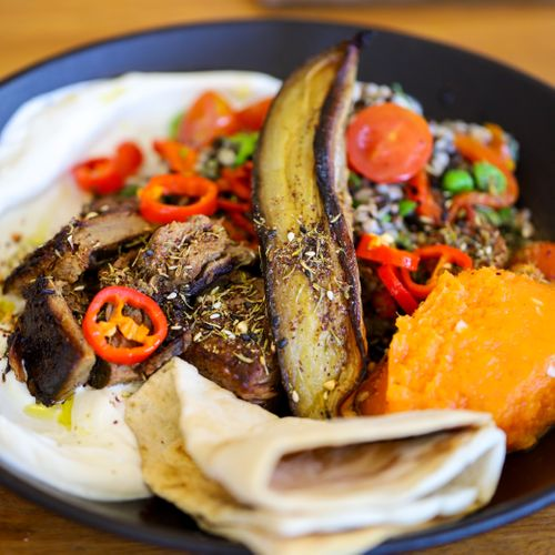 Lamb and Eggplant Mezze Bowl