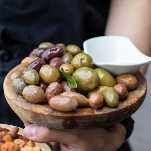 Marinated Varieties Of Green Olives