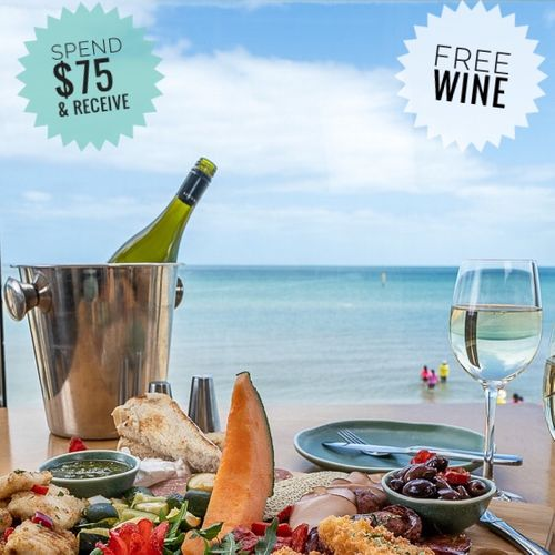 Spend $75 to receive free bottle of wine