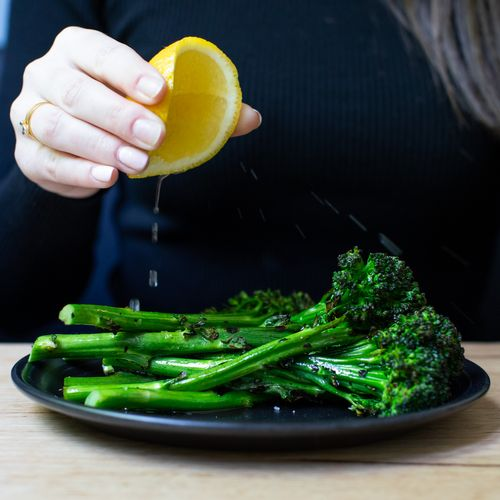 Charred Broccolini, Miso
