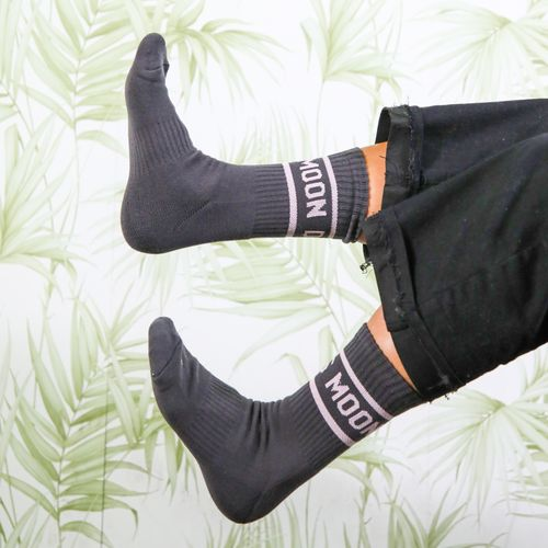 Moon Dog Socks Grey