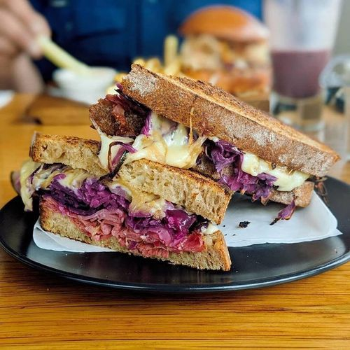 Toasted Rueben On Rye