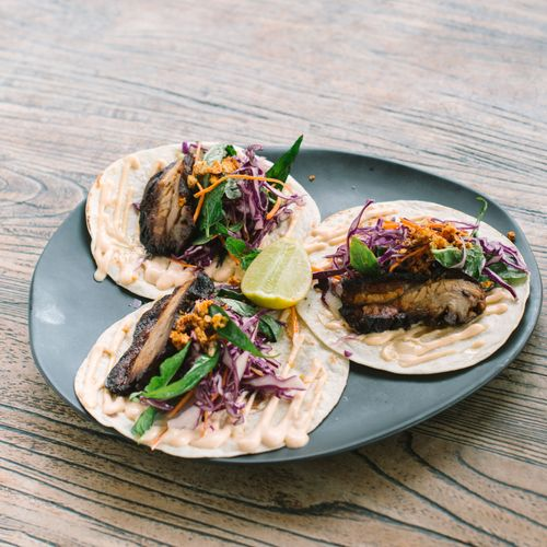 Pork Belly Soft Shell Tacos