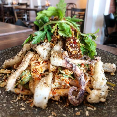 Salt & Pepper Calamari Salad