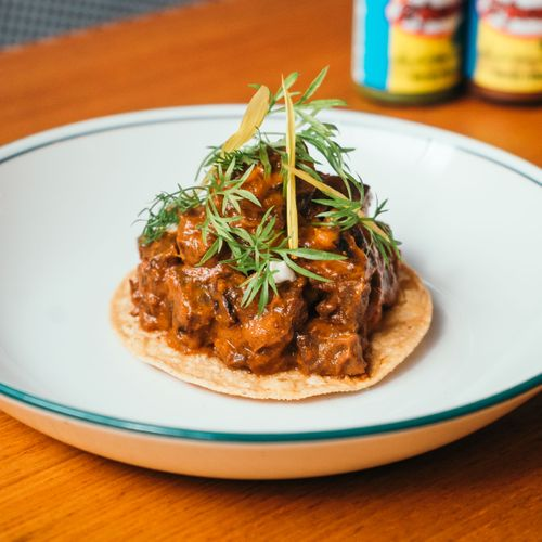 Braised Beef Cheek Tostada