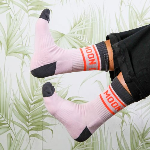 Moon Dog Socks Pink