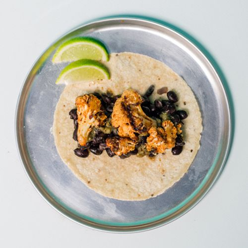 Grilled Cauliflower Taco