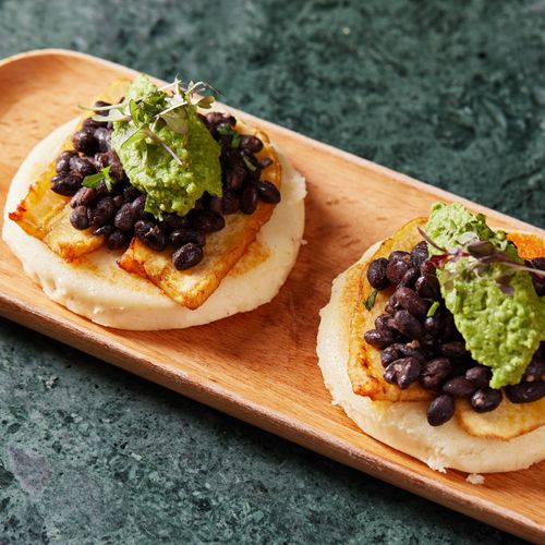Black Bean & Plantains Arepas