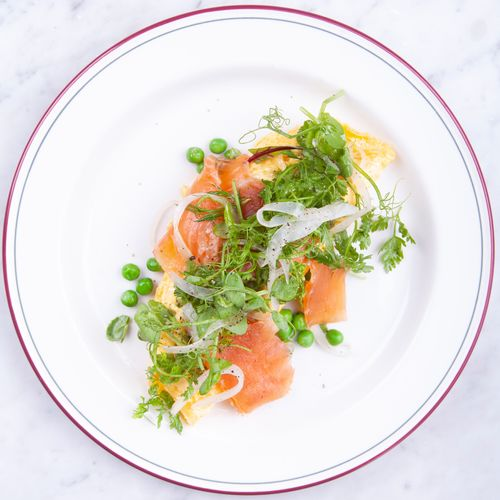 Cured Salmon Omelette