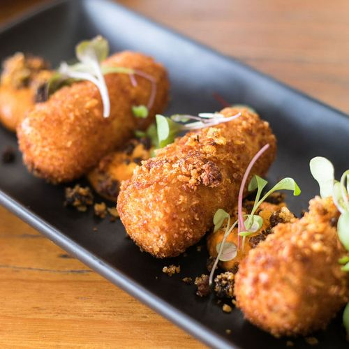 Pickled Corn, Jalapeno & Manchego Croquettes