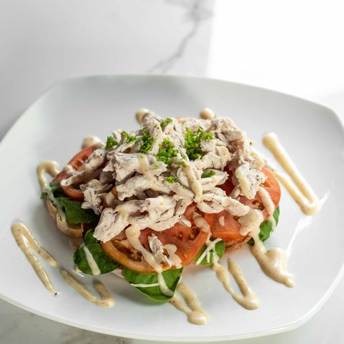 Open Chicken Sandwich