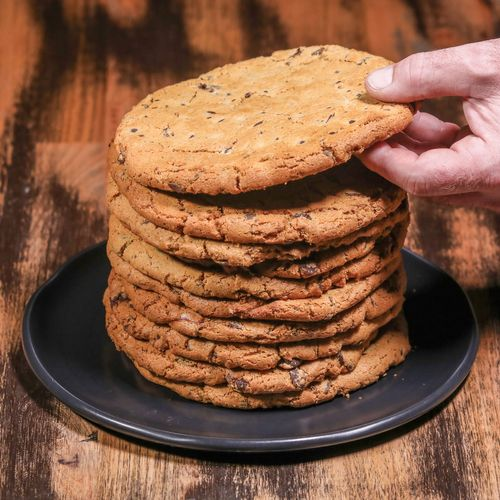 Monster Peanut Butter Choc-Chip Cookie