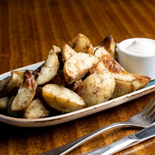 Roast Chat Potatoes With Garlic Rosemary Salt