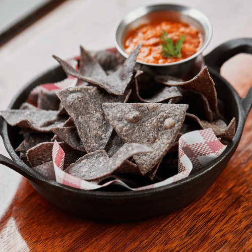 Housemade Blue Corn Chips & Jalapeno Salsa