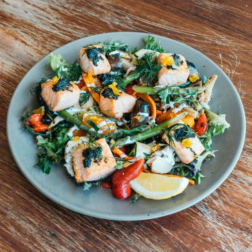 Pan-Fried Tasmanian Salmon Salad