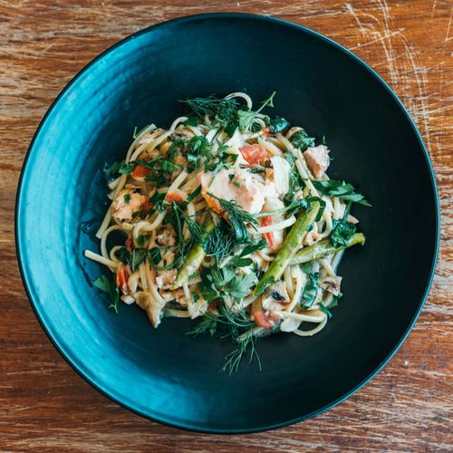 Linguine With Tasmanian Salmon